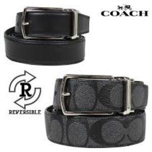 NWT COACH CUT-TO-SIZE REVERSIBLE SIGNATURE BELT